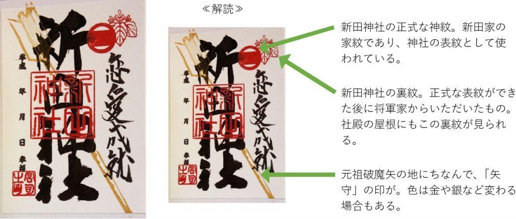 新田神社のご朱印解読