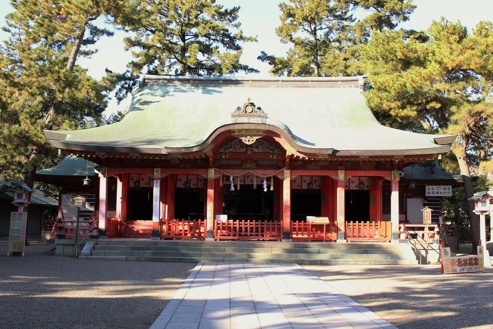 長田神社の御社殿