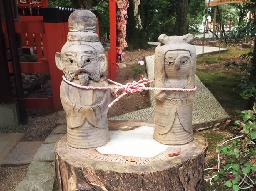 下鴨神社の「相生社」前にあるお地蔵さま