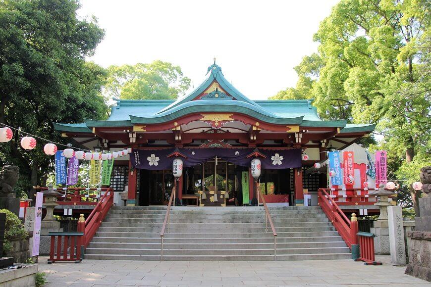 東京都大田区にある「多摩川浅間神社」