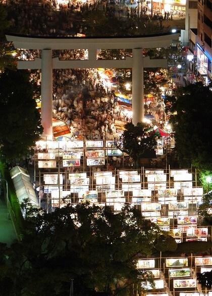 明治維新のきっけを作った島津斉彬をまつる照国神社の六月燈