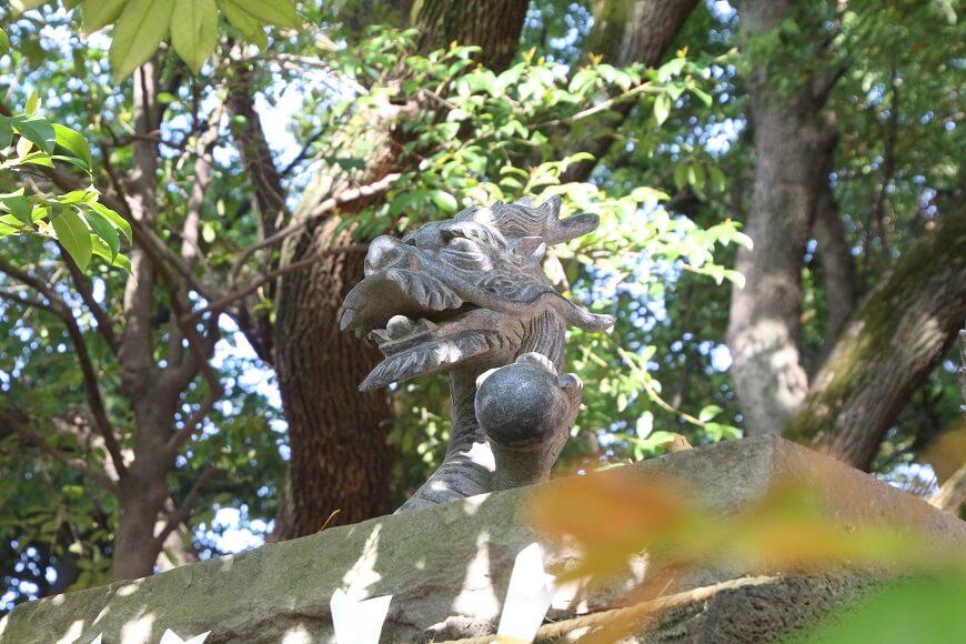 北を守る黒龍 田無神社の龍神様