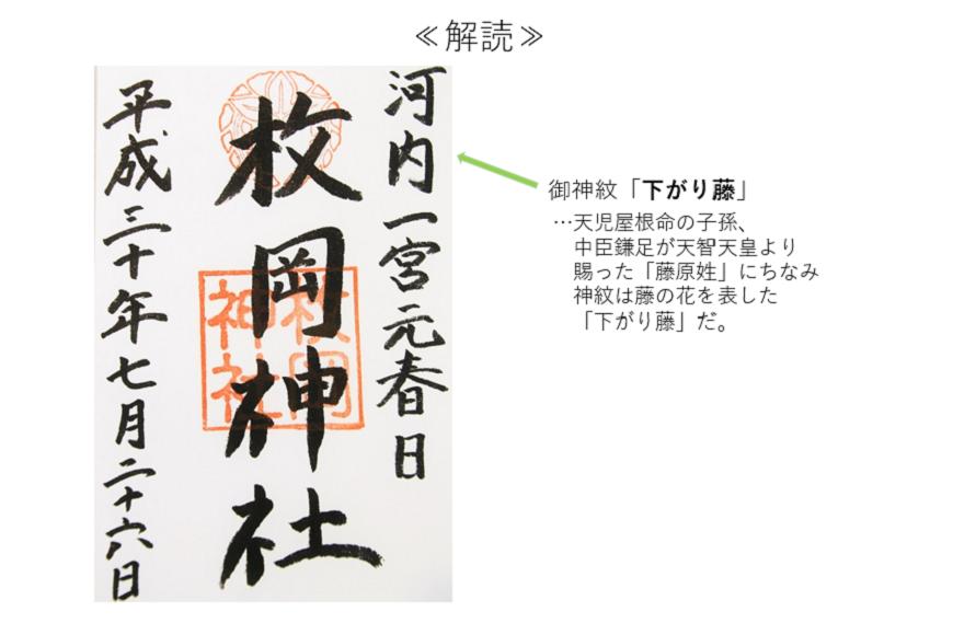 枚岡神社の御朱印解説
