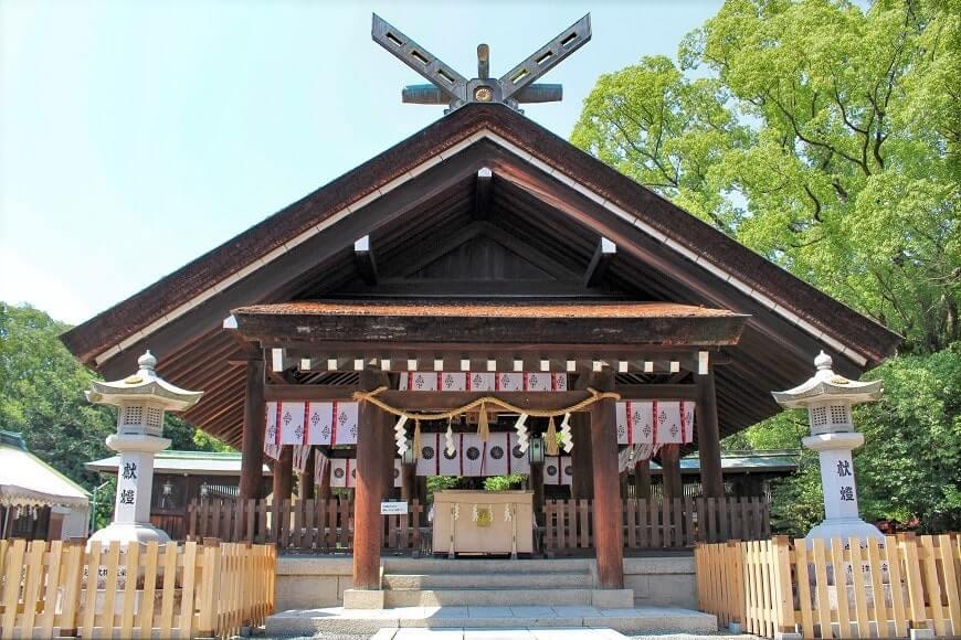 大鳥大社の拝殿