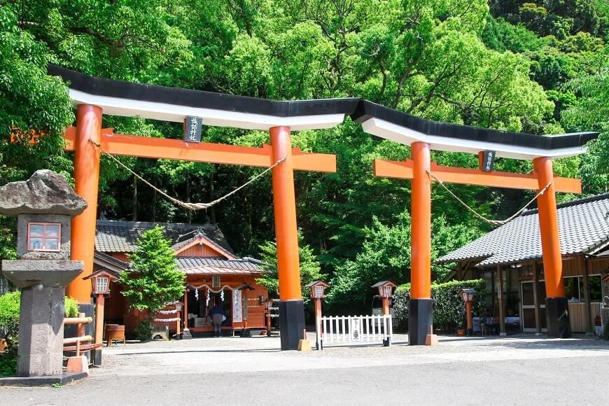 鹿児島県の諏訪神社の鳥居