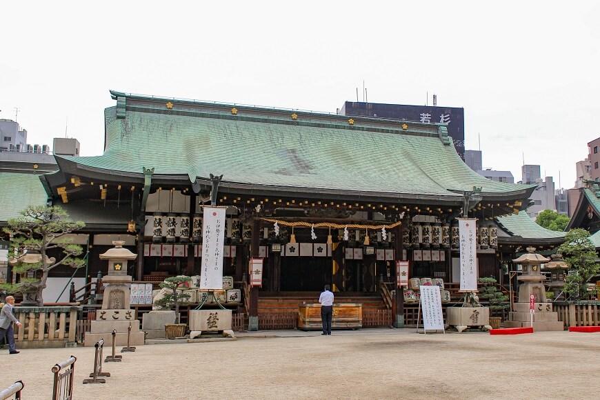 正直の神様、菅原道真公をまつる大阪天満宮の社殿