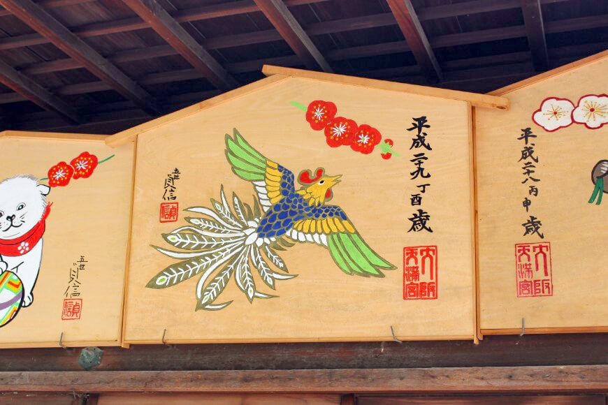 大阪天満宮は酉年であっても絵馬にニワトリは描かず鳳凰を描く