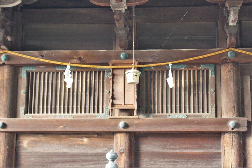 吉備津神社の御本殿の背後