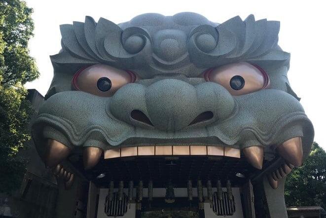 大阪府の難波八阪神社のアクセス、住所、電話番号などの説明です。