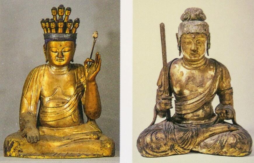 木造十一面観音菩薩坐像・木造空蔵菩薩坐像