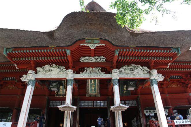 出羽神社のご社殿(三神合祭殿)