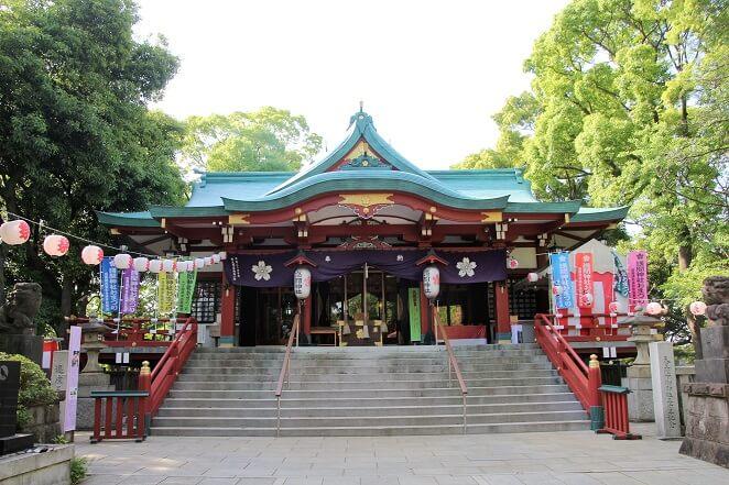 東京都にある多摩川浅間神社のアクセス、住所、電話番号などの説明です。