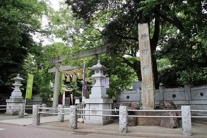 東京都にある新田神社のアクセス、住所、電話番号などの説明です。
