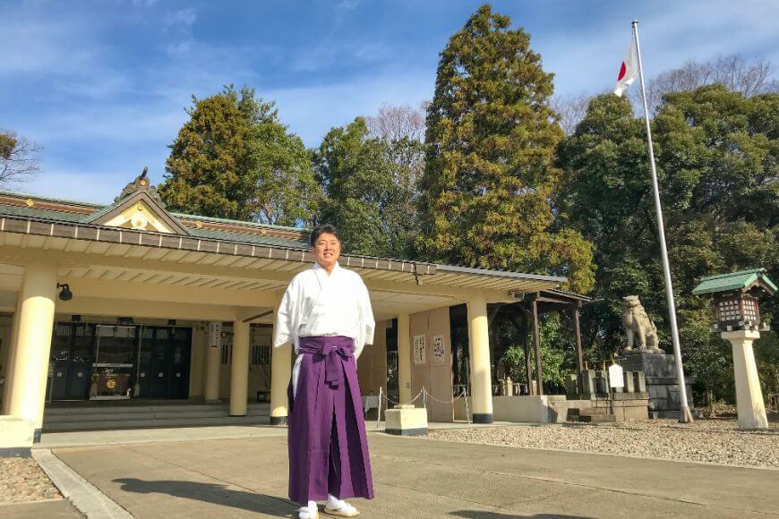 福井県護国神社の宮川さん